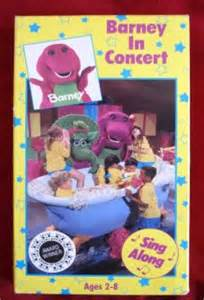 barney the backyard barney in concert barney in concert vhs baby bop 21 songs
