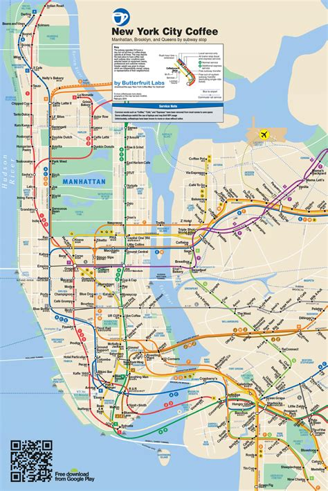map subway new york city nyc best coffee shops by subway stop business insider