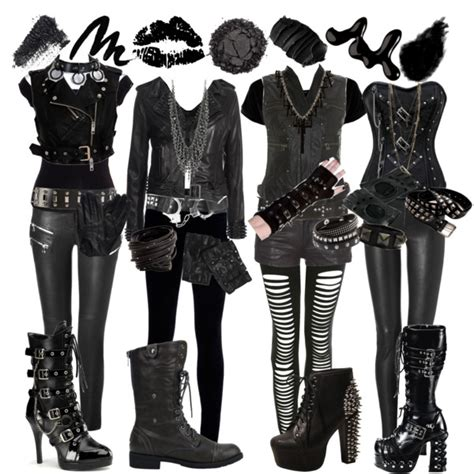 how to dress like black veil brides x3 polyvore
