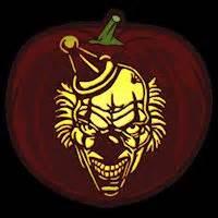 evil pumpkin template evil clown pumpkin carving stencil free pdf pattern to