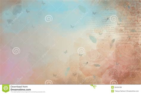background roses newspaper stock illustration image 50434189