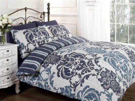 patterned bedding elysee navy flowers patterned duvet cover quilt bedding set blue white king size