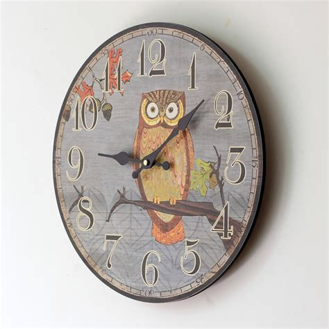decorative clock cute owl board wall clock large decorative wall clocks
