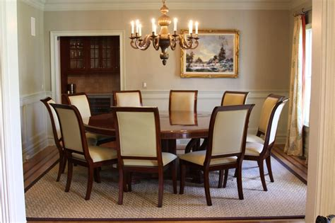 dining room table seats 8 round dining room tables seats 8 bombadeagua me