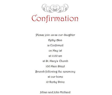 confirmation invitations templates free confirmation free suggested wording by theme geographics