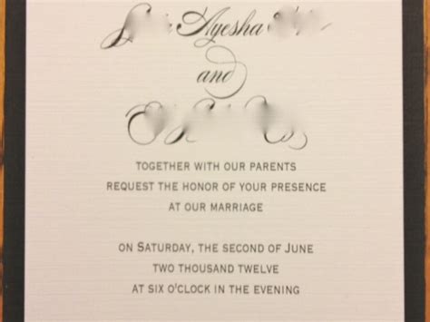 civil ceremony wedding invitation wording exles invitation wording together with their parents images
