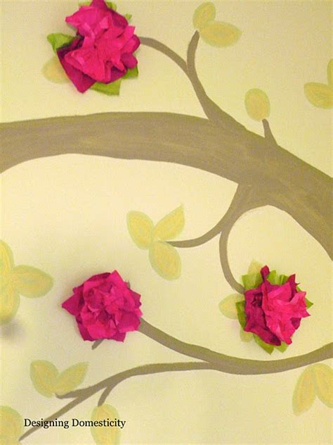 tissue paper flower wall tutorial 17 best images about wall art ideas on pinterest