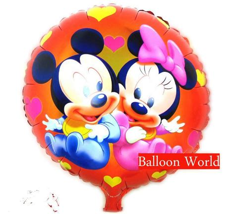 Balon Foil Pentungan Mickey Minnie 18 inch minnie mickey mouse foil balloon happy