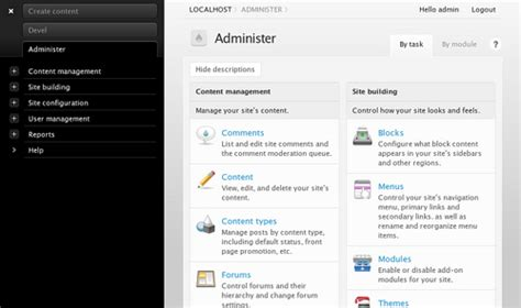 drupal themes administration streamlining drupal administration ui arvixe blog