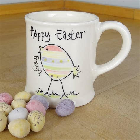 personalised hand painted easter mug by fired arts and