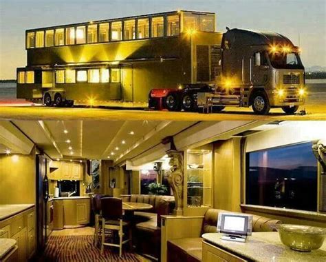 luxury semi trucks semi truck house trailer truckin pinterest semi