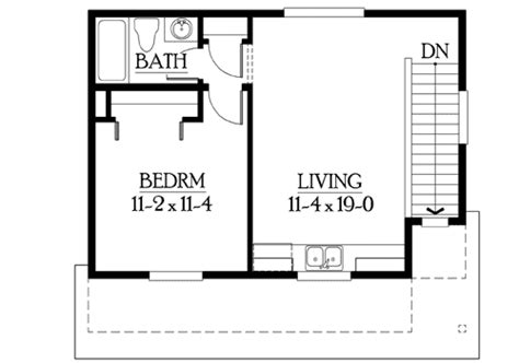 Master Bedroom Above Garage Floor Plans by Craftsman Garage With Studio Above 23065jd 2nd Floor