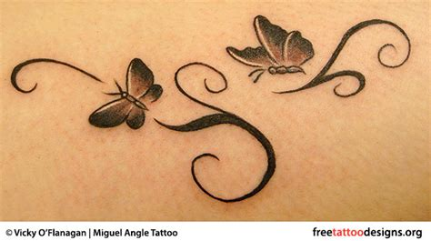 delicate butterfly tattoo designs black ink flying butterflies design for