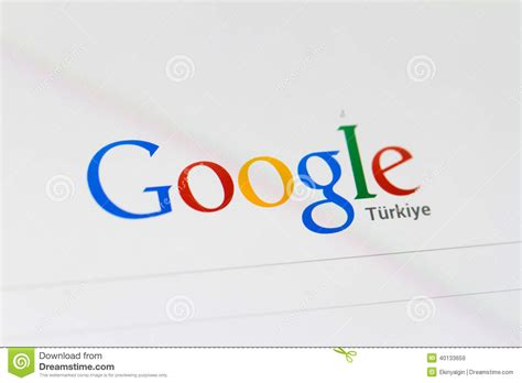 home page and logo editorial stock image image