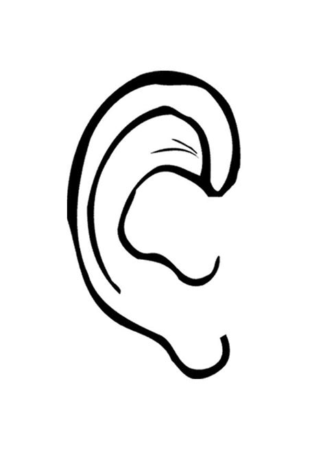 human ear coloring page coloring page ear img 9527