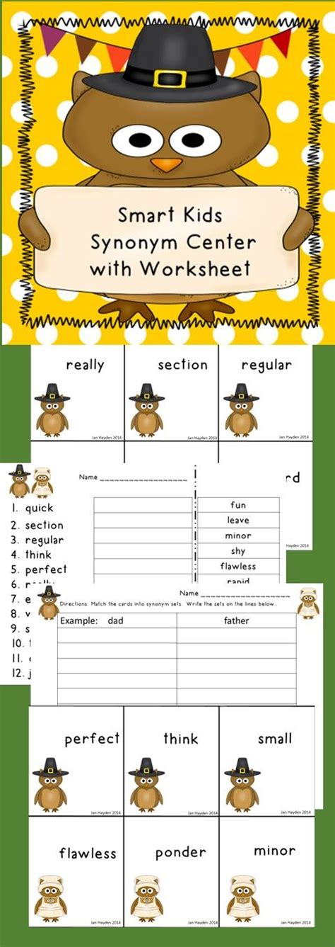 themes synonym synonym center autumn theme recording sheets matching
