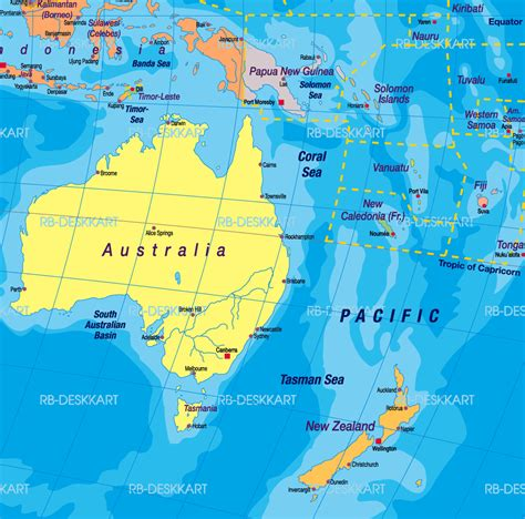map of australia and nz australia map and new zealand