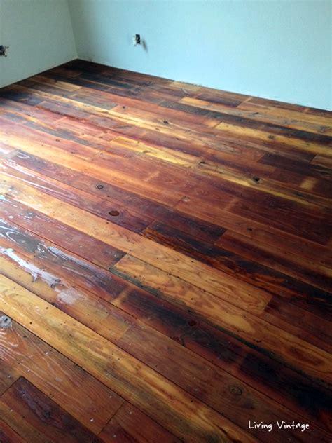 antique reclaimed flooring installed living vintage