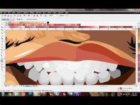 tutorial vector corel draw youtube tutorial vector corel draw menggambar mulut bibir dan