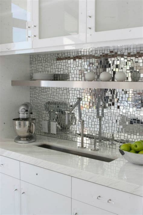 Mirrored Backsplash In Kitchen | mirror kitchen backsplash tile memes