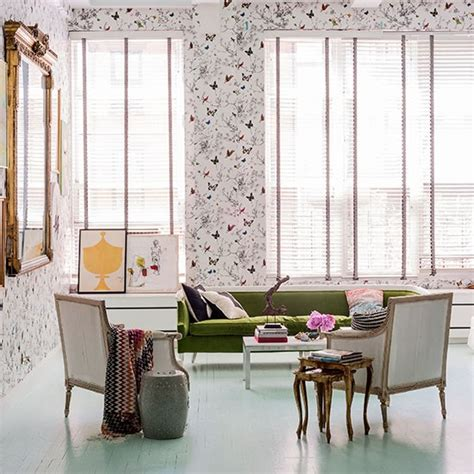 butterfly living room decor living room with butterfly wallpaper living room livingetc housetohome housetohome co uk