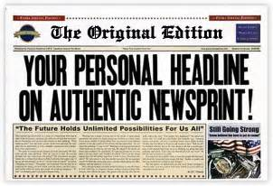 pics photos fake newspaper front page generator