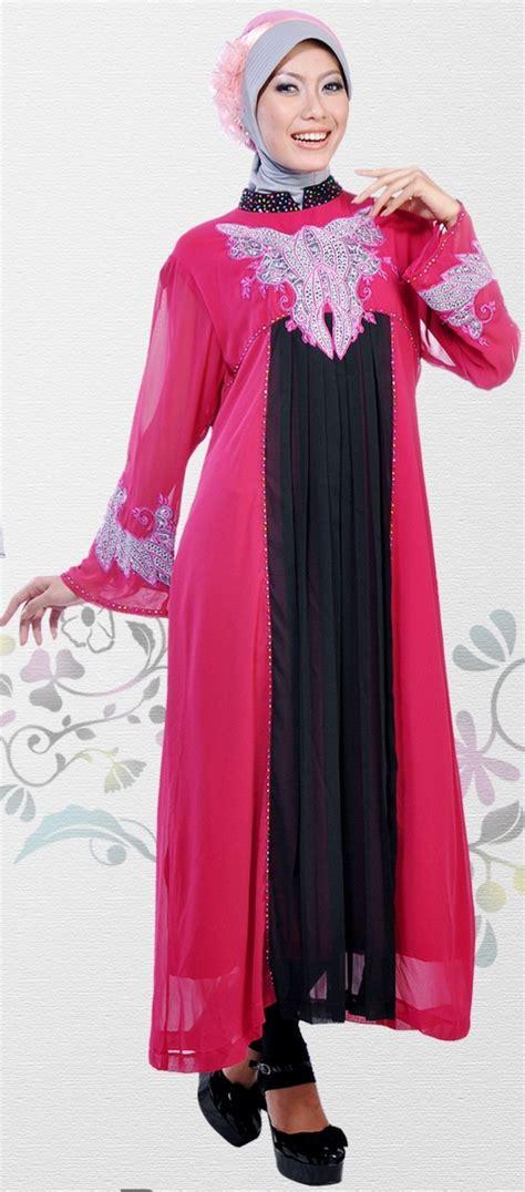 Baju Muslim Pesta Untuk Tubuh Gemuk Busana Muslim Untuk Tubuh Gemuk Pendek 21 Contoh Model