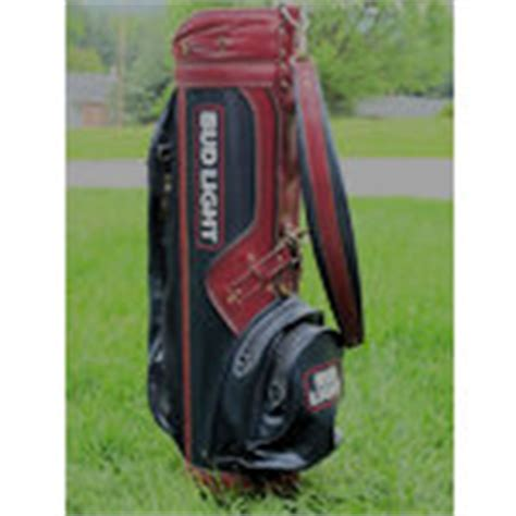 bud light golf bag collectible bud light leather golf bag excellent cond