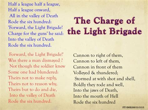 charge of the light brigade analysis charge of the light brigade poem analysis ppt