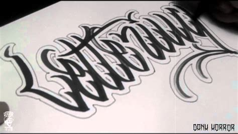 tattoo fonts youtube lettering iv hxrror