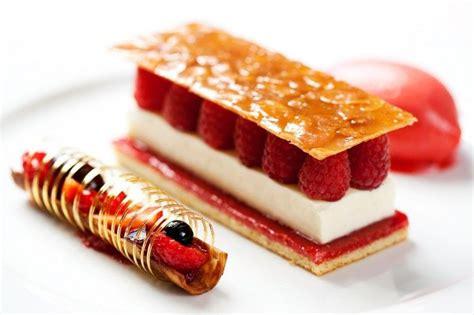 tuile patisserie pretty sure is jaconde sponge raspberry jam panna cotta