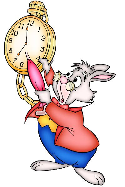 printable white rabbit clock white rabbit with clock great companion image to