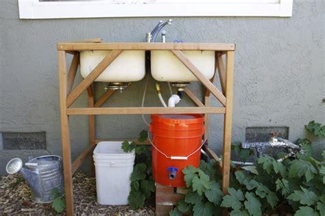 outdoor sink station no plumbing banyan s end diy outdoor sink rinse veggies save water