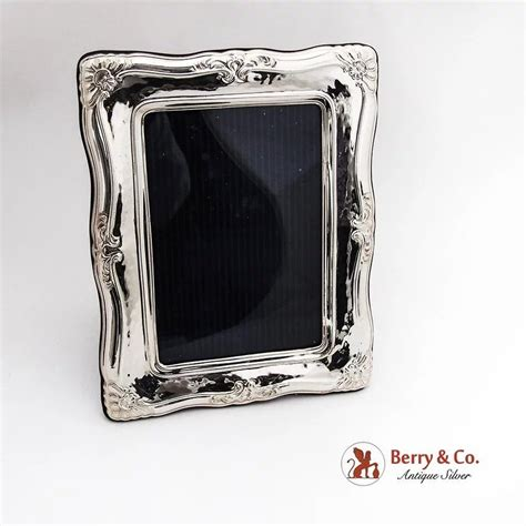 Terlaris Frame 6275 Box vintage scroll rectangular picture frame sterling silver italy berry company antique silver