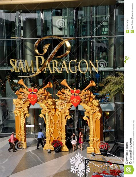 bangkok thailand siam paragon shopping mall editorial