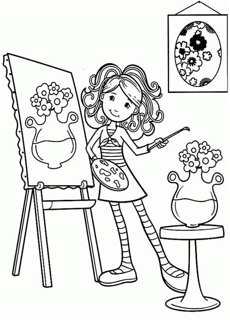 coloring pages to paint painting coloring page coloring home