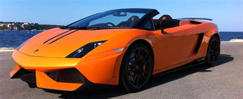Orange Lamborghini Convertible Rent Lamborghini Performante Lp 570 Spyder Gallardo Aaa