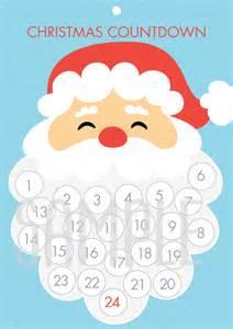 diy free santa christmas countdown advent calendar tomfo