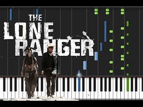theme song lone ranger the lone ranger main theme piano tutorial youtube