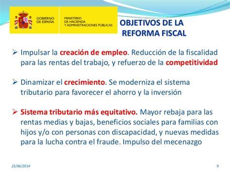 resumen de la reforma fiscal para 2015 16 en 20 medidas resumen de la reforma fiscal de junio de 2014