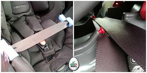 fitting a baby car seat buckle crunch egg car safety