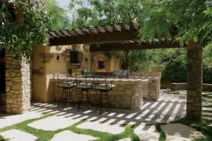 Wall Color Ideas For Kitchen Rustic Patio With Trellis Amp Outdoor Pizza Oven In