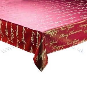 script burgundy gold christmas tablecloth