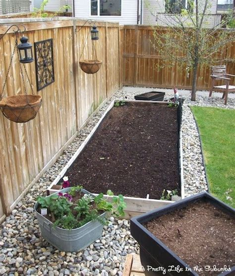 Raised Rock Garden Beds River Rock Around Raised Garden Bed Bye Bye Lawn