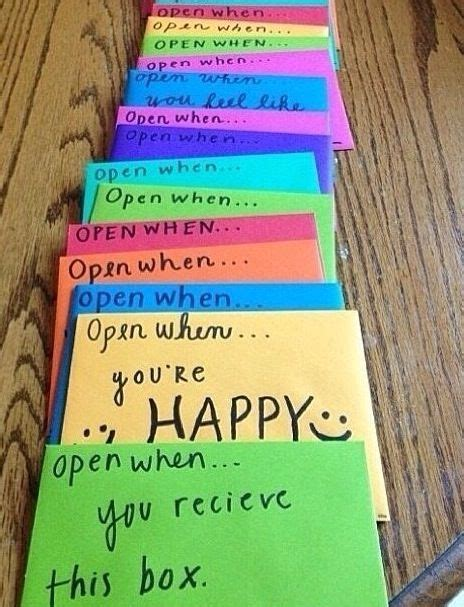how to make open when cards quot open when quot cards diy