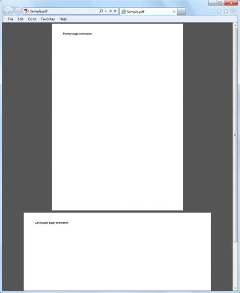 orientation landscape javascript how to set page orientation when generating pdf file in
