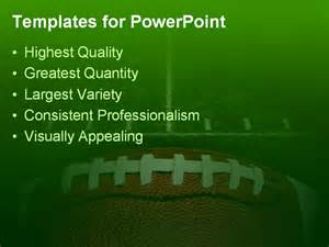 football powerpoint templates photo of an american football with the focus on the