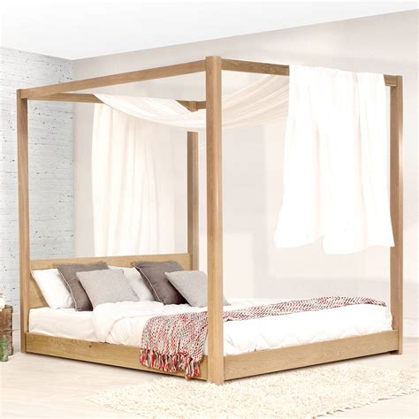 four poster bed frame low wooden four poster bed frame by get laid beds