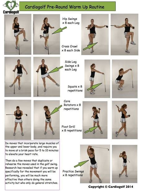 gym exercises for golf swing cardiogolf pre round warm up routine to learn how to do
