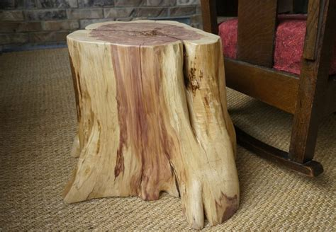 how to a tree stump end table how to create a tree stump table hunker